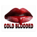 Cold Blooded Lips Postcard