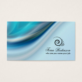 cold blue color business card