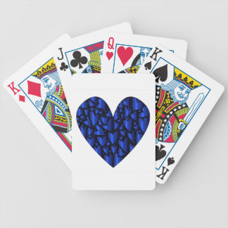 Cold Blue Heart Bicycle Playing Cards