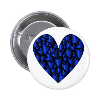 Cold Blue Heart Button