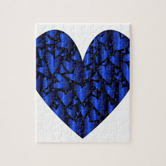 Cold Blue Heart Jigsaw Puzzle