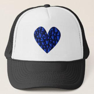 Cold Blue Heart Trucker Hat