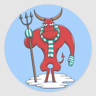 Cold Day in Hell Classic Round Sticker