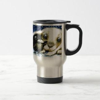 Cold december night 15 oz stainless steel travel mug