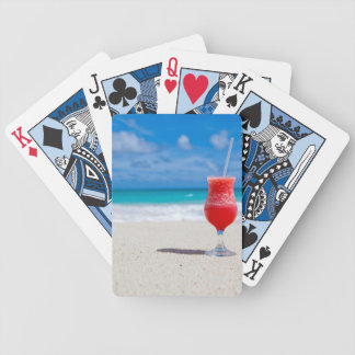 Cold Drink on a Tropical Beach Playing Cards