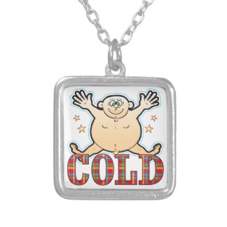 Cold Fat Man Silver Plated Necklace