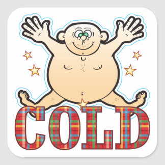 Cold Fat Man Square Sticker