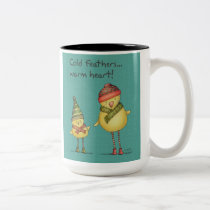 Cold Feathers, Warm Heart Mug