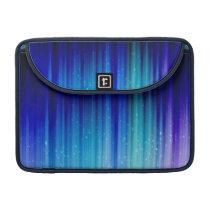 Cold Fire - Blue Teal Purple Streaks Pattern MacBook Pro Sleeve