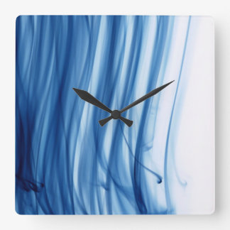 Cold Fire III Square Clock by Artist C.L. Brown