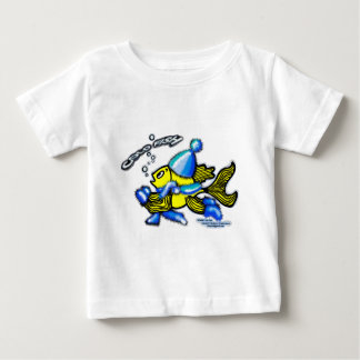 Cold Fish funny cartoon baby t-shirt