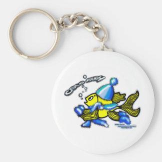 Cold Fish Basic Round Button Keychain