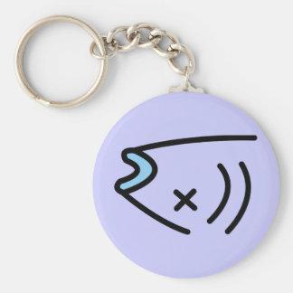 cold fish. basic round button keychain