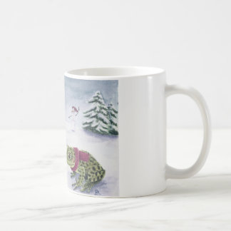 """""""Cold Frogs"""" by Deanna Bach Art Classic White Coffee Mug"""