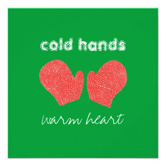 Cold Hands Warm Heart Square Christmas Card Custom Announcement