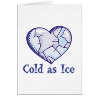 cold ice heart card