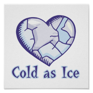 cold ice heart print