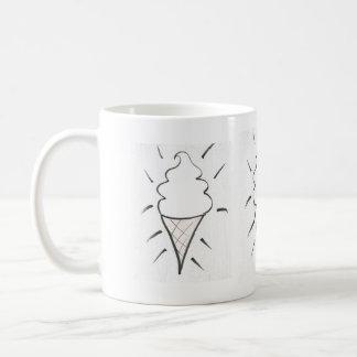 Cold indulgence classic white coffee mug