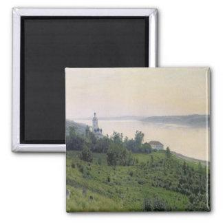 Cold Landscape, 1889 2 Inch Square Magnet