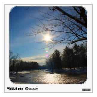 Cold Morning Landscape - Pushaw Stream Wall Stickers