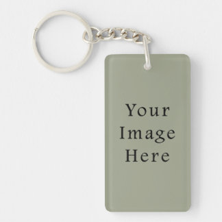 Cold Moss Green Color Trend Blank Template Keychain