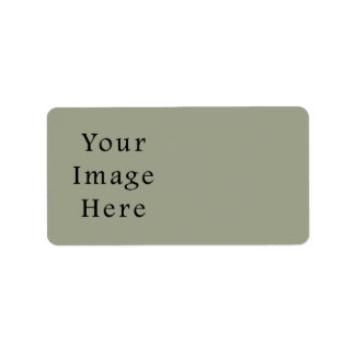 Cold Moss Green Color Trend Blank Template Label