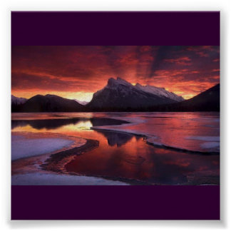 Cold Mountain Sunset Poster