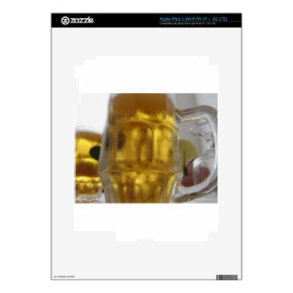 Cold mug of light beer on the table at a restauran iPad 3 decals