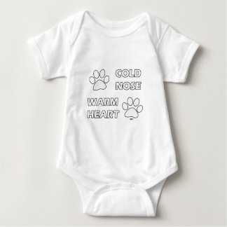 Cold Nose Warm Heart Baby Bodysuit