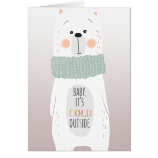 Cold outside / Keep you warm- Fun Christmas Card