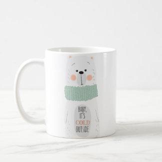 Cold outside / Keep you warm- Fun Christmas Mug