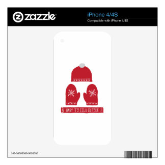 Cold Outside Decals For The iPhone 4S
