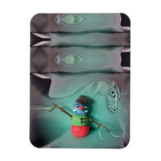 Cold Rigid Snowman Icedragon Magnet