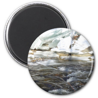 Cold River 2 Inch Round Magnet
