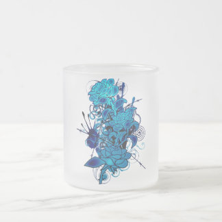 Cold_Rose Frosted Glass Coffee Mug
