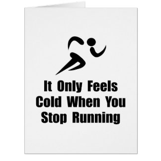 Cold Running Large Greeting Card