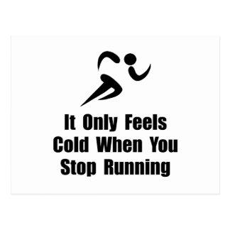 Cold Running Postcard