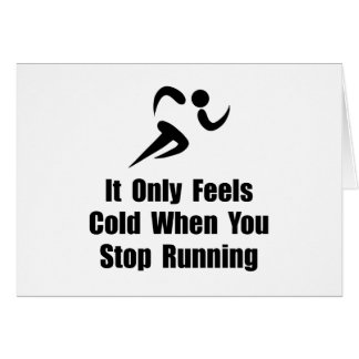 Cold Running Stationery Note Card