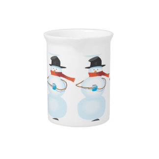 Cold Snowman Drink Pitcher
