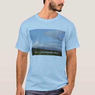 Cold, Snowy Mt Egmont, Taranaki, New Zealand T-Shirt