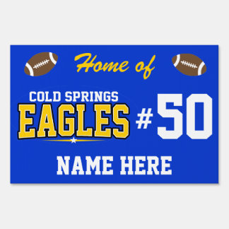 Cold Springs High School; Eagles Yard Sign