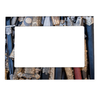 Cold steel arms magnetic picture frame