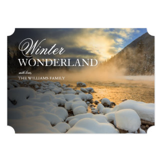 Cold sunrise over the South Fork of Flathead River Card