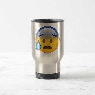 Cold Sweat - Emoji Travel Mug