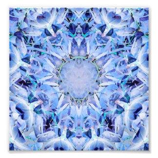 Cold Tones Fractal Pattern Art Photo