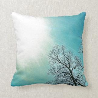 Cold Trees & A Winter Sun Nature Art Throw Pillow