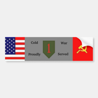 Cold War 1st Infantry Div Bumper Sticker Car Bumper Sticker
