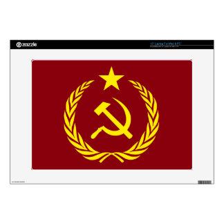 """Cold War Communist Flag 15"""" Laptop For Mac & PC Laptop Skins"""