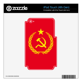 Cold War Communist Flag iPod Touch (4th Gen) Decal For iPod Touch 4G