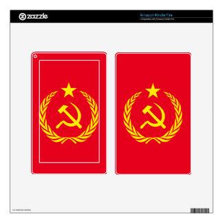Cold War Communist Flag Kindle Fire Kindle Fire Skin